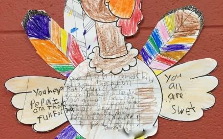 thanksgiving thank you_Arlington Elem second grade student