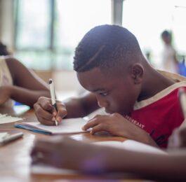 Kid in school reopening